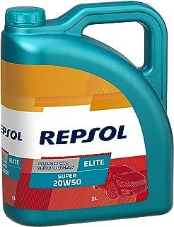 Repsol RP138Q55 Elite Super 20W-50 Aceite de Motor para Coche, 5 L