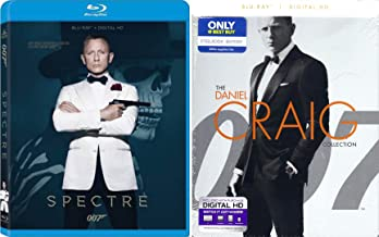 Spectre Blu Ray & Daniel Craig Collection Steelbook Skyfall, Casino Royale Blu Ray+ DHD & Quantum of Solace James Bond Ste...