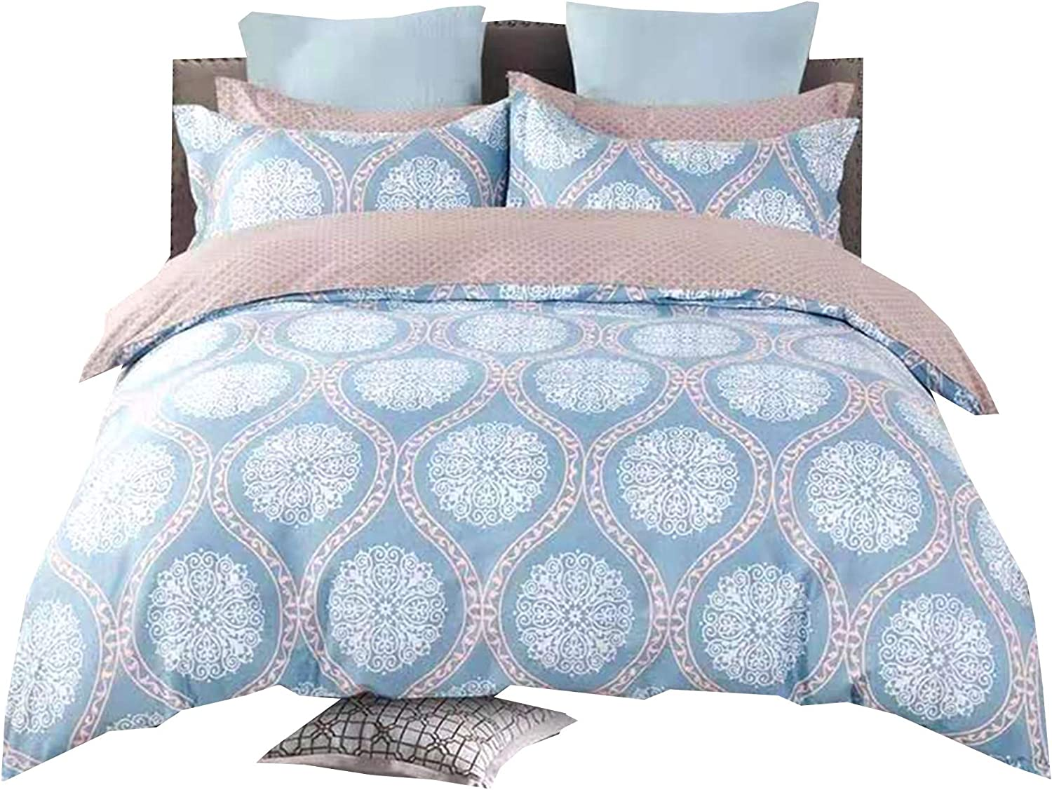 WBYCOTBED Men Duvet Cover Full Size Blue Bedding Co Chicago Mall Cotton 35% OFF 100%