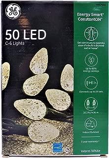 GE Energy Smart ConstantON 50 LED C-6 Warm White Faceted String Lights
