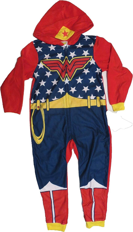 DC Comics Wonder Woman Union Suit Navy/Red Girls XS 4/5