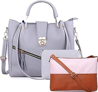 JFC Women's Handbag with Sling Bag (Set of 2) (ST-004CR_Ivory)