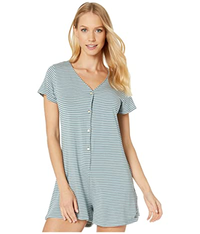 Roxy Other Things Short Sleeve Romper (Trooper Marina Stripes) Women