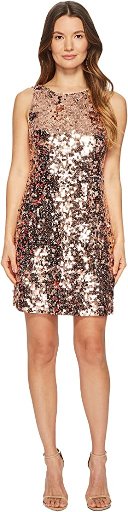 Sequin Bow Back Dress