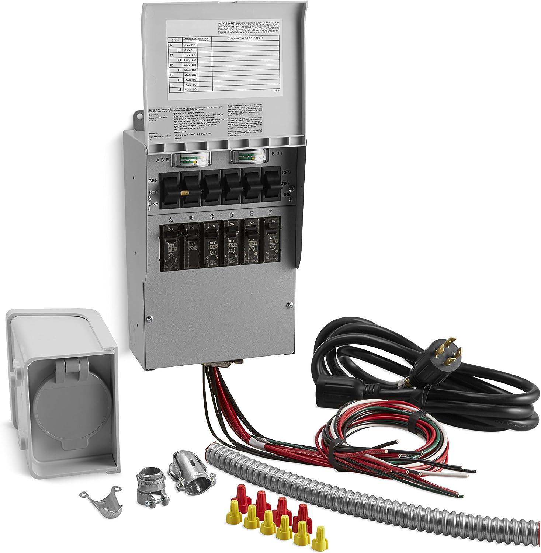 Switch generator transfer manual for Generac Power