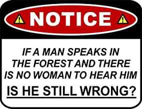 if a man speaks in the forest sign