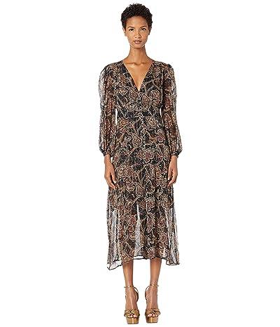 The Kooples Tanger Print Maxi Dress (Black) Women