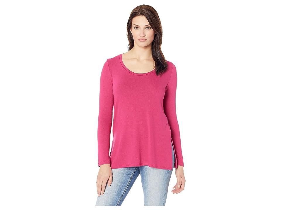 Karen Kane Side-Slit Sweater (Cherry) Women