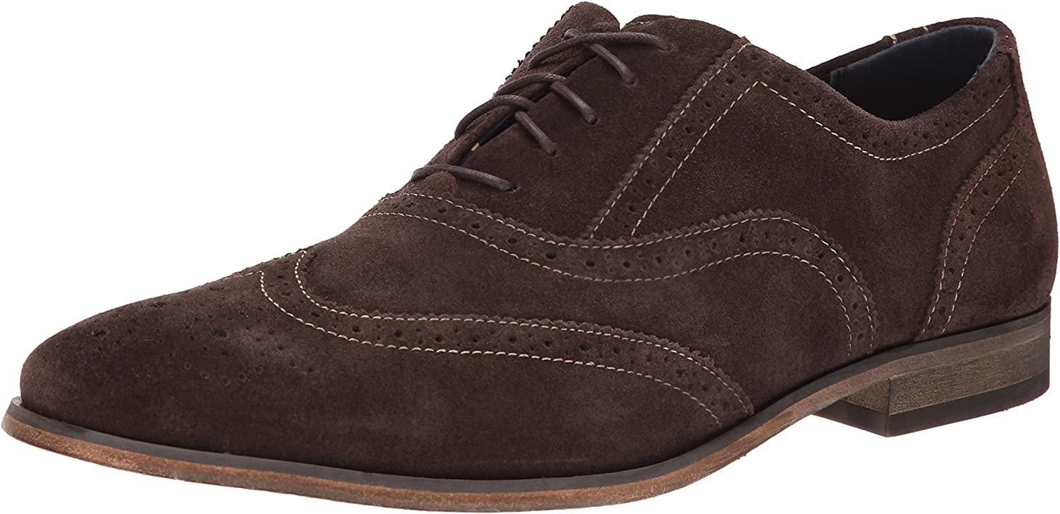 Florsheim Men's Jet Casual Wing Tip Oxford, Brown Suede, 9.5 D US