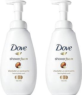 Dove Shower Foam - Foaming Body Wash - Shea Butter With Warm Vanilla - Net Wt. 13.5 FL OZ (400 mL) Per Bottle - Pack of 2 ...