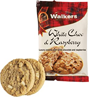 Walkers White Chocolate & Raspberry Cookies, 100 Count