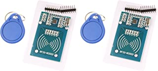 NOYITO MFRC-522 RC522 RFID RF IC Card Inductive Module with S50 White Card and Key Ring (Pack of 2)