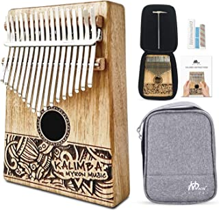 $38 » MYRON Kalimba 17keys Thumb Piano Solid Koa with Portable Protective Case, tuning hammer chord sticker and sutdy instruction