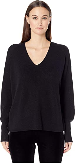 Fine Merino Rib V-Neck Box-Top