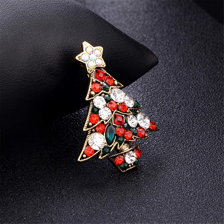 LKEEP Personality Stylish Colorful Rhinestone Christmas Tree Brooch Accessories Christmas Decoration