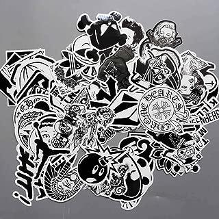 htrdjhrjy Espiritual Negro y Blanco Tide Placa Skate Maleta con Ruedas Funda Ordenador Cuaderno Pegatinas Coche Pegatinas para Decoración Hogar - una