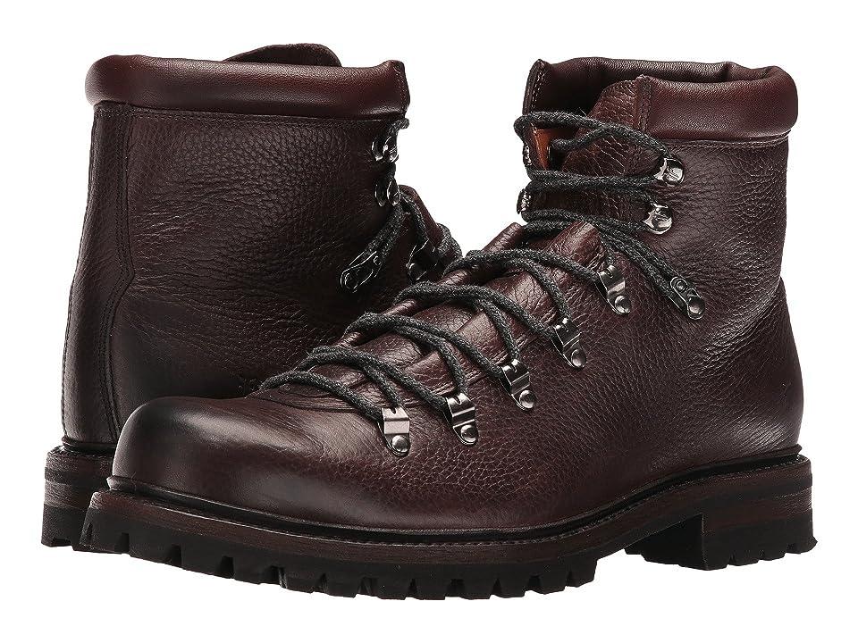 Frye Wyoming Hiker (Dark Brown WP Waxed Pebbled Leather/Soft Vintage Leather) Men