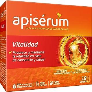 Apisérum Vitalidad Viales bebibles - - Jalea Real con Vitamina C - Multivitamínico - Vitaminas A.C.D.E.H y grupo B - Ayuda a reforzar el sistema inmunitario* - Tratamiento para 18 días