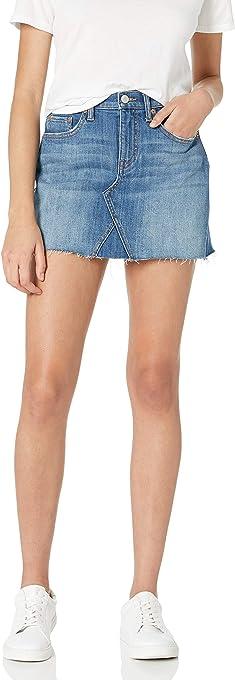 The Drop Rosemore Minifalda de mezclilla deconstruida