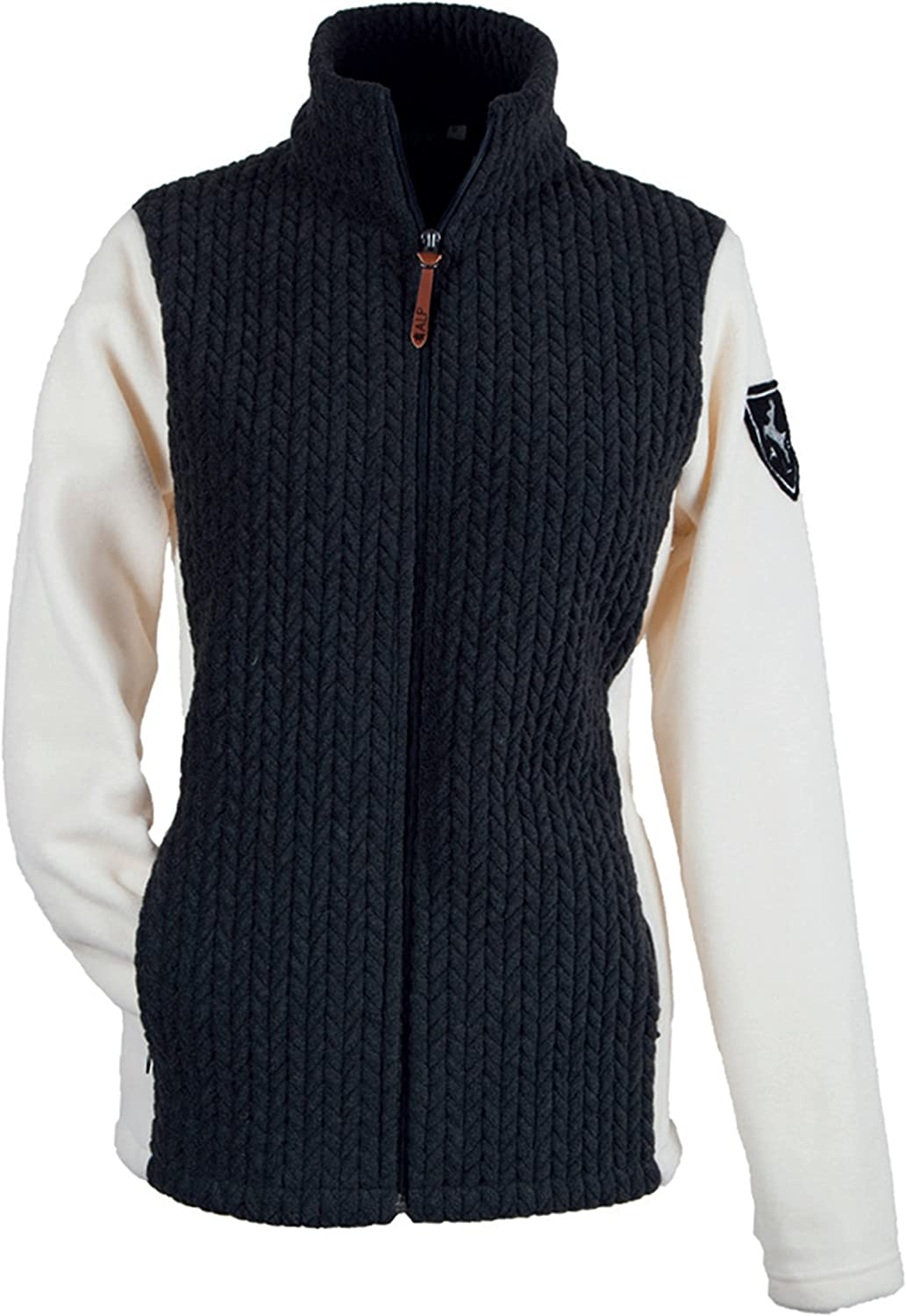 Alp by Brush Ladies Fleece Jacket with Quilted Contrasting Inserts