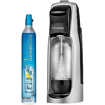 SodaStream Jet Sparkling Water Maker, Kit w/60l Cylinder, Silver