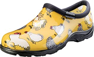 Sloggers Women's Waterproof Rain and Garden Shoe with Comfort Insole, Chickens Daffodil Yellow, Size 11, Style 5116CDY11