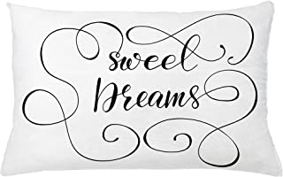 Ambesonne Saying Throw Pillow Cushion Cover, Inspirational Text with Modern Romantic Calligraphy Design and Swirls, Decorative Rectangle Accent Pillow Case, 26