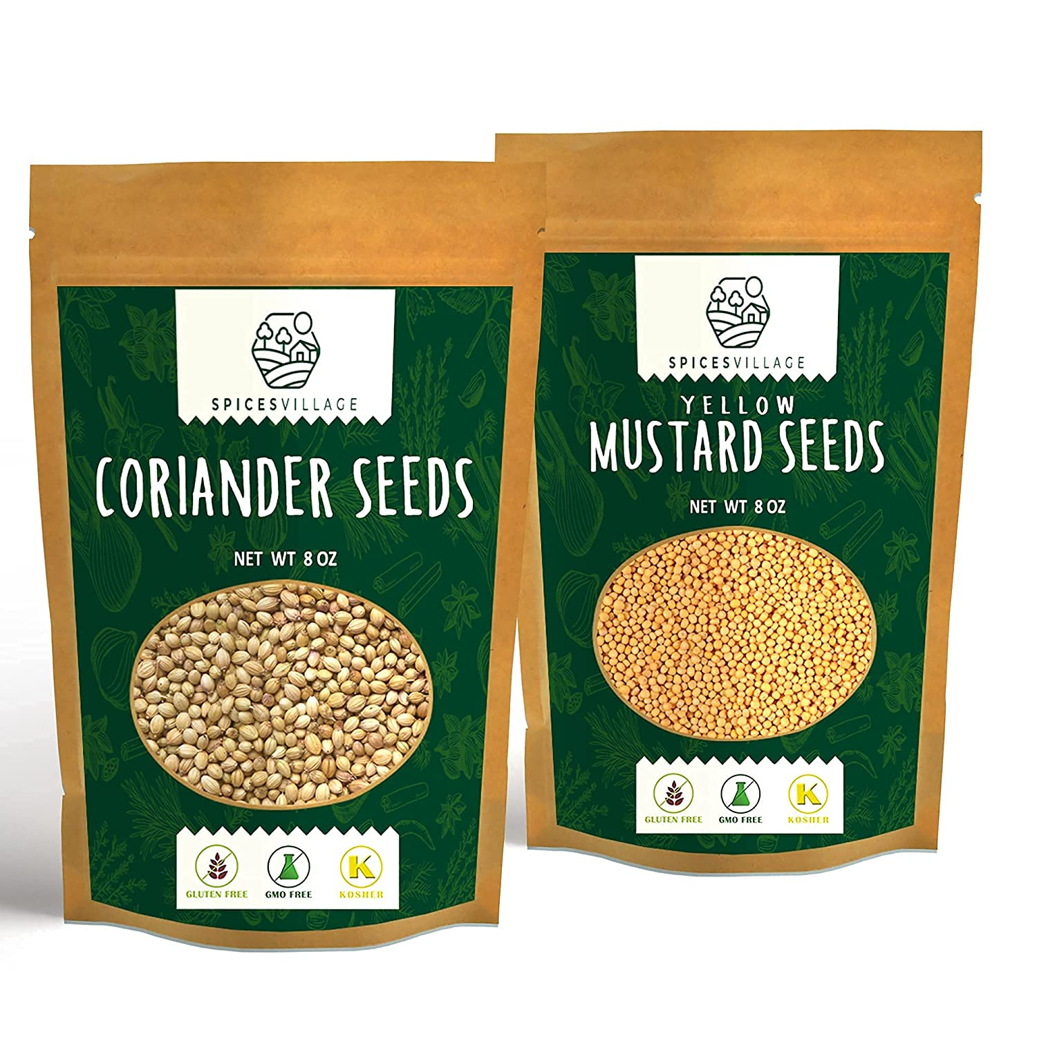Online limited product Spices Village Pickling Kit Coriander Mustard and Latest item Seeds Yellow