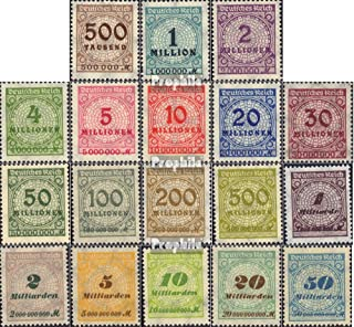 German Empire 313-330 (Complete.Issue.) with The Highest Nominal Germany 1923 Hyperinflation (Stamps for Collectors)