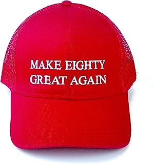 80th Birthday Cap Gift for Men Women Make Eighty Great Again Turning 80 Trucker Hat Love America Trump Quote