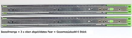 Schubladenschienen Schubladenausz/üge Teleskopausz/üge Selbsteinzug D/ämpfer Vollauszug Softclose L/ängen in mm 250,300,350,400,450,500,550,600,650,700 H/öhe 45mm 1-8 Paare L/änge 500mm 8 Paar=16 St/ück