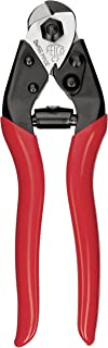 Felco Cable Cutter (F C7) - Heavy Duty Strength Steel Wire One-Hand Cable Cutter with Non-Slip Grip (7mm)
