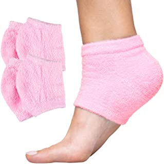 Sponsored Ad - ZenToes Moisturizing Heel Socks 2 Pairs Gel Lined Toeless Spa Socks to Heal and Treat Dry, Cracked Heels Wh...