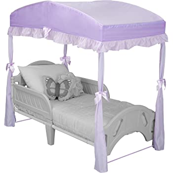 Delta Children Girls Canopy for Toddler Bed, Purple
