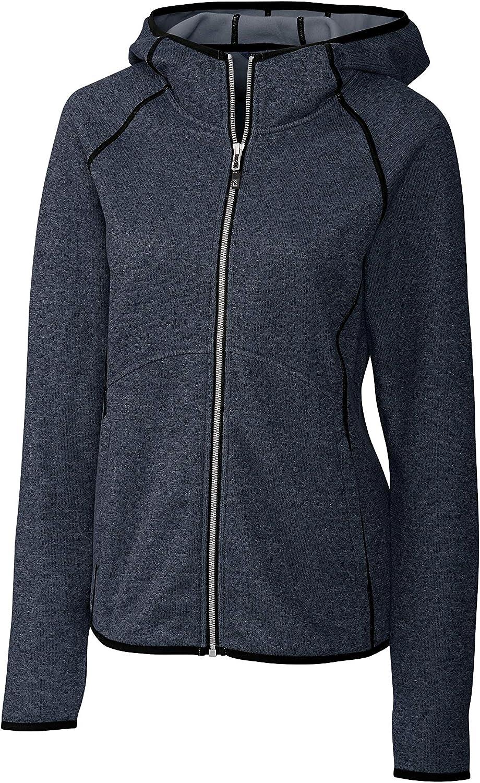 Cutter & Buck Women's Hooded Full Zip Jacket, Blue, S