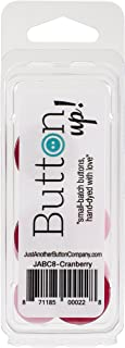 Button Up! Snack Pack Buttons 8/Pkg-Cranberry