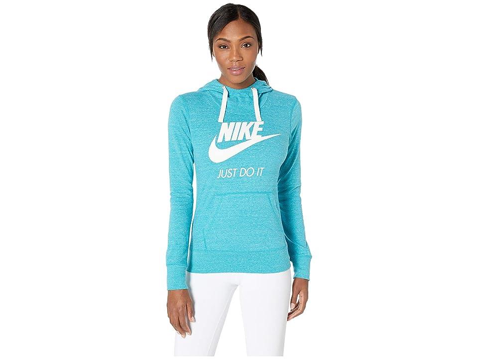 Nike Sportswear Gym Vintage HBR Hoodie (Spirit Teal/Sail) Women