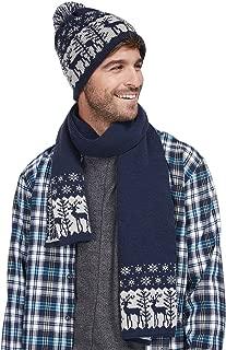 LETHMIK Christmas Pom Pom Beanie Winter Warm Knit Cap Skully,Scarf & Hat Set