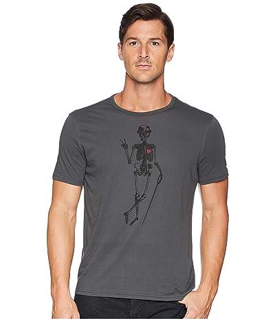 John Varvatos Star U.S.A. Skeleton Peace Graphic T-Shirt (Coal) Men
