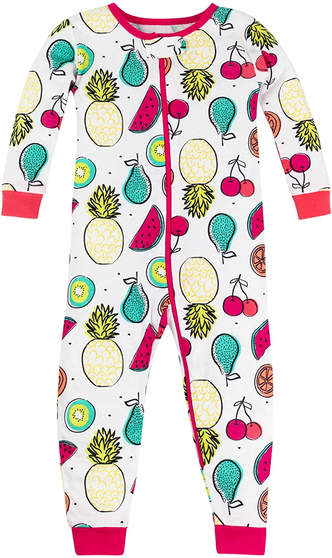 Lamaze Organic Baby Girls' Stretchie One Piece Sleepwear, Baby and Toddler, Zipper