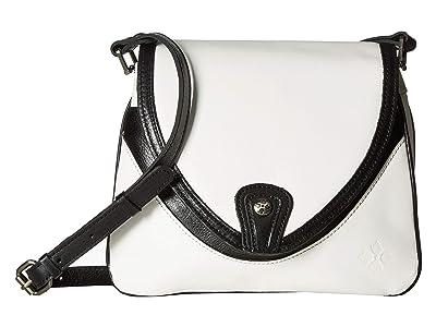 Patricia Nash Veg Tan Color Block Alimena Crossbody (Black/White) Cross Body Handbags