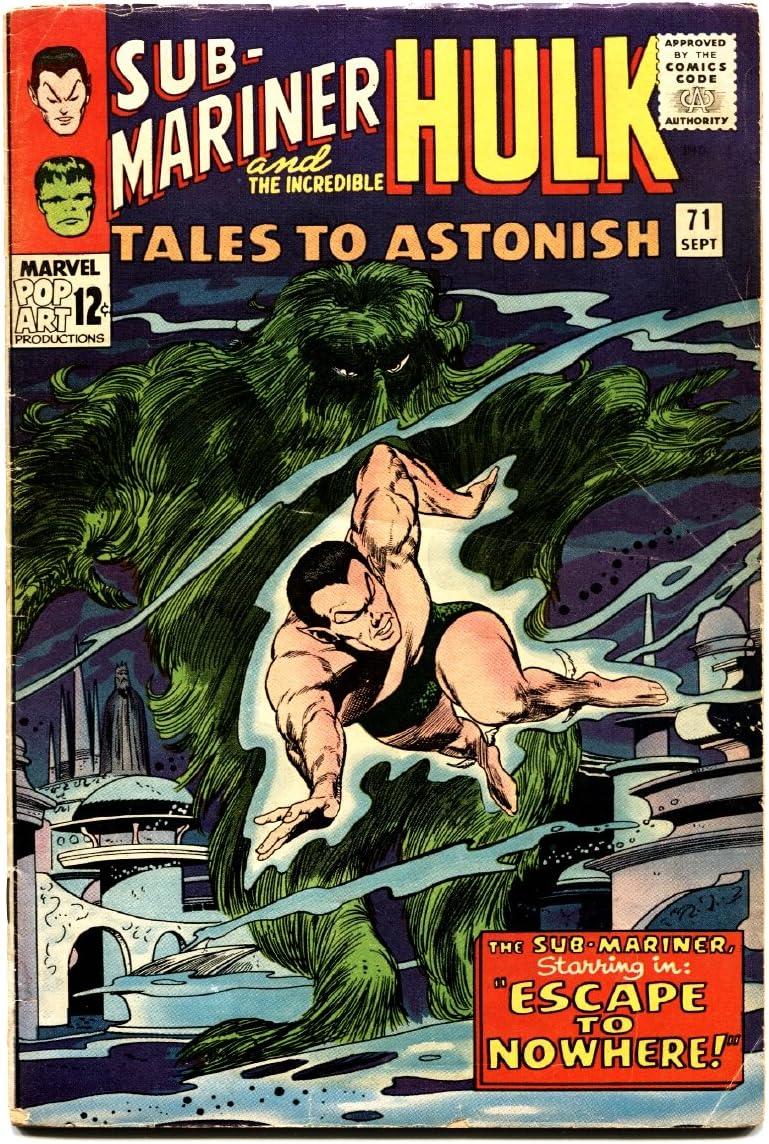 Denver Mall Tales to Astonish #71 comic free shipping book Sub-Mariner 1965- - Hulk- Silve