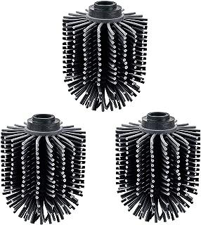 VINN DUNN - Cabezal de Cepillo de Silicona para Inodoro (71 x 71 x 93 mm, 3 Unidades), Color Negro