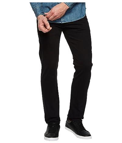 AG Adriano Goldschmied Tellis Modern Slim Leg SUD Sueded Stretch Sateen in Super Black (Super Black) Men