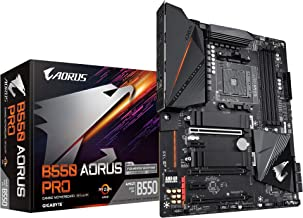GIGABYTE B550 AORUS PRO (AM4 AMD/B550/ATX/Dual M.2/ SATA 6Gb/s/USB 3.2 Gen 2/2.5 GbE LAN/ALC1220-VB/RGB Fusion 2.0/PCIe4/D...
