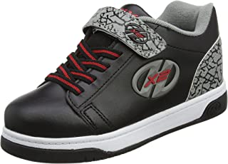Heelys Children Boys Dual X2 Up Skate Roller Shoes Black Grey Your Young'un Will