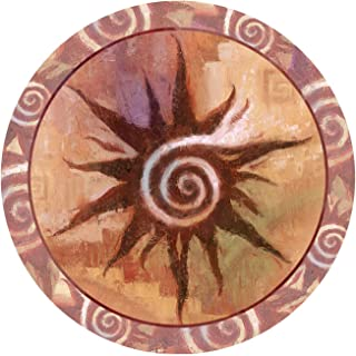 Thirstystone Stoneware Coaster Set, Spiral Sun