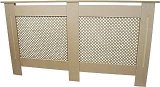 comprar comparacion Cubierta para radiador de Madera MDF Natural sin acabar, Parrilla de calefacción Moderna para Muebles de hogar, Estante de...