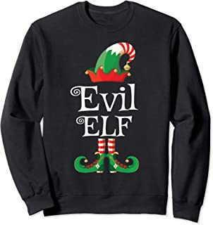 Evil Elf Shirt Gift Funny Costume Matching Christmas Sweatshirt