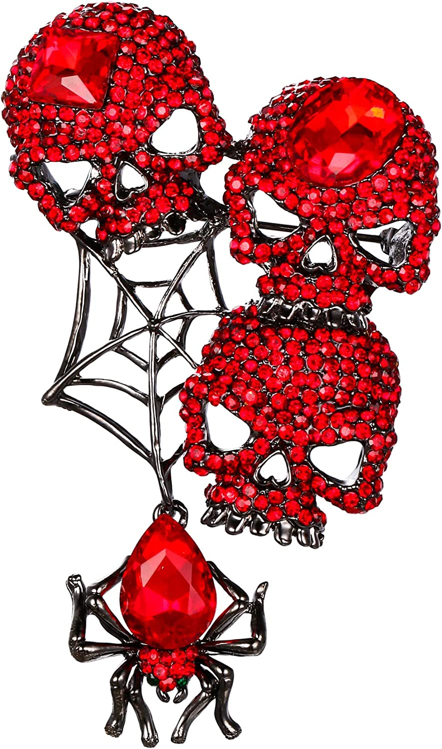 EVER FAITH Austrian Crystals Halloween Spider Web Style overseas Vintage Genuine Free Shipping